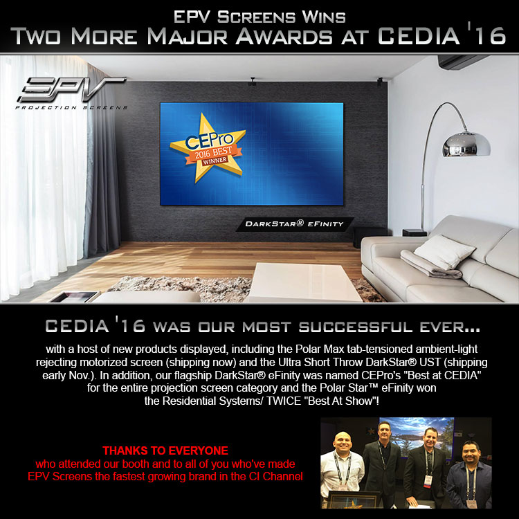 Awards at CEDIA '16