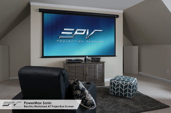EPV® Screens Introduces the PowerMax Sonic, Motorized Acoustically Transparent Screen