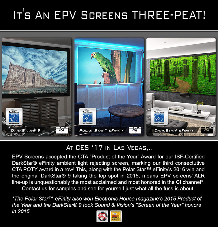 It's An EPV® Screens Three-Peat!
