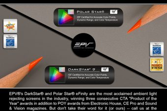 EPV® Screens' DarkStar® 9 and Polar Star® Samples Now Available