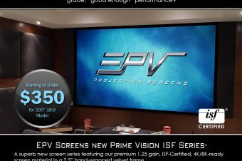 EPV's New ISF-Certified Screens Under $350 Dealer Cost