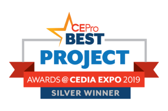 "TYM ""Tahoe Theater"" Takes Silver in CE Pro 2019 BEST Award, Featuring the EPV Screens Special Edition A4K (SE138C-A4K)"
